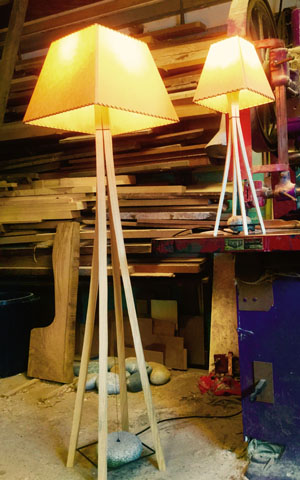 Prices from £395 for the tall one and £80 for the table lamp. Shades are personal choice.